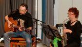 gitarre und am saxophon birgit