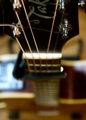 Gitarre von oben